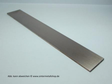 Wolfram-Platte OF roh 5±0,2 x 98±1 x 190±1 mm